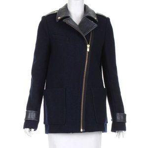 Material: 100% Virgin Wool; 100% Calfskin. Colour: